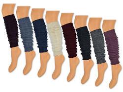 1 Paar Damen Stulpen mit Wolle in 8 Farben meliert
