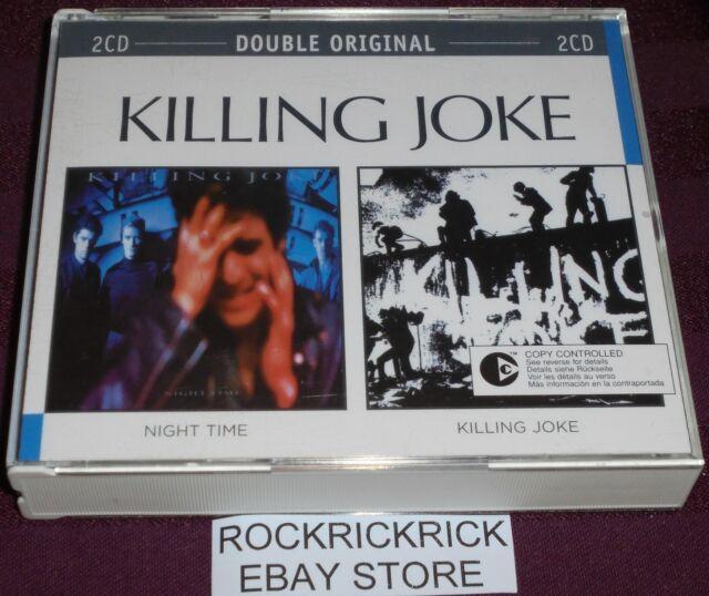 KILLING JOKE - NIGHT TIME & KILLING JOKE (2 CD'S 2 ALBUMS) RARE LIKE NEW