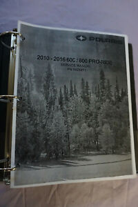2010 2011 2012 2013 Polaris 600 800 Pro Ride snowmobile service manual on CD