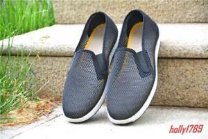 Old-Beijing-Tissu-Chaussures-Homme-Mesh-Respirant-De-Conduite-A-Enfiler-Noir-Chaussures-De-Loisirs
