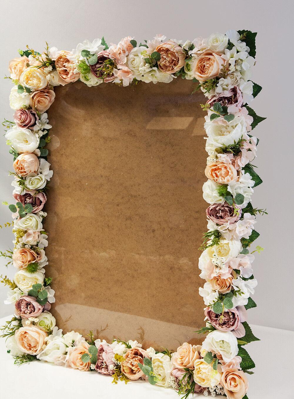 Large Vintage Floral Cadre Photo 60 x 80 cm Mariage décoration liste des invités table plan 1