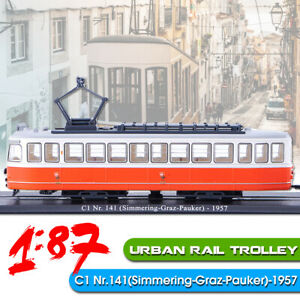 1-87-Urban-Rail-Trolley-Train-C1-Nr-141-Simmering-Graz-Pauker-1957-Locomotive
