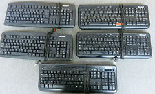 Job lot 5 X GENUINE MICROSOFT NERO USB cablato TASTIERE