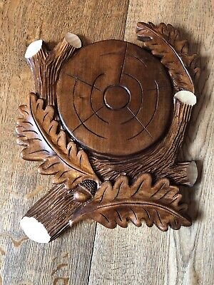 Trophy Mounting Plaque M taxidermy keiler wooden shield for Wild Boar