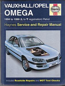 vauxhall opel omega 1994 1999 petrol haynes service repair manual rh ebay co uk 1987 Vauxhall Omega 2000 Vauxhall Omega