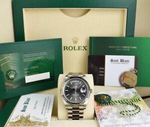 ROLEX - 2021 18kt White Gold DayDate 40 President BOX/CARD 228239 - SANT BLANC
