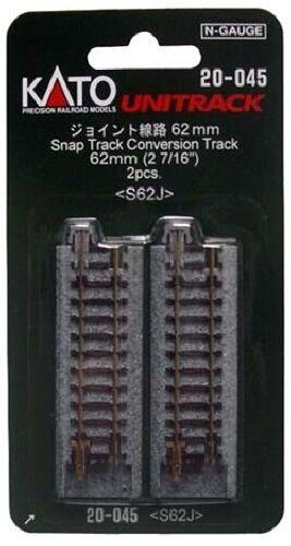 Kato 20-045 62mm (2 1.1cm) Snap-Track Conversión Rastrear