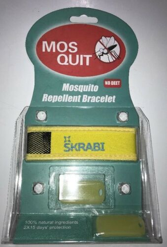 Natural Mosquito Repellent Bracelet Bug Insect Protection Deet-Free USA SKRABI