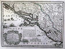 Antique map, Les isles et coste de la Dalmatie