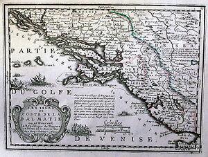 Antique-map-Les-isles-et-coste-de-la-Dalmatie