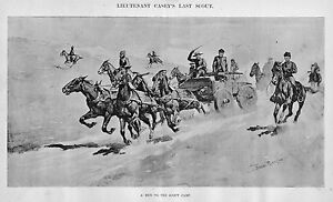 FREDERIC-REMINGTON-CAVALRY-SOLDIERS-HORSES-AND-WAGONS-RUN-TO-THE-SCOUT-CAMP