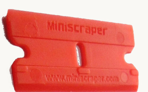 MINISCRAPER® Plastic Razor Blades 100 Pak Double Edged 200 Edges®