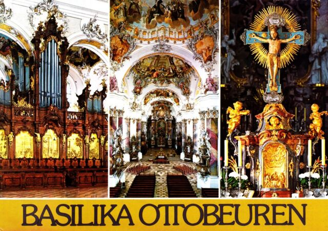 Basilika Ottobeuren , Ansichtskarte , 1969 gelaufen