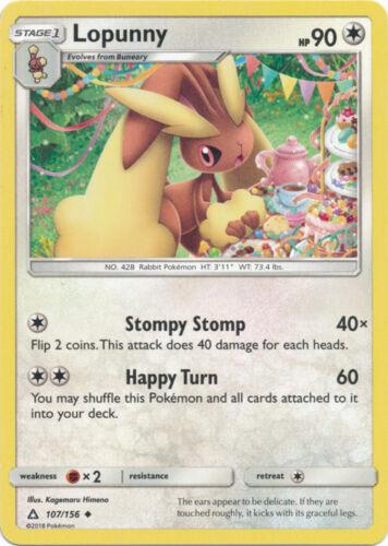 Uncommon Pokemon SM5 Ultra Prism M//NM English x4 Lopunny 107//156