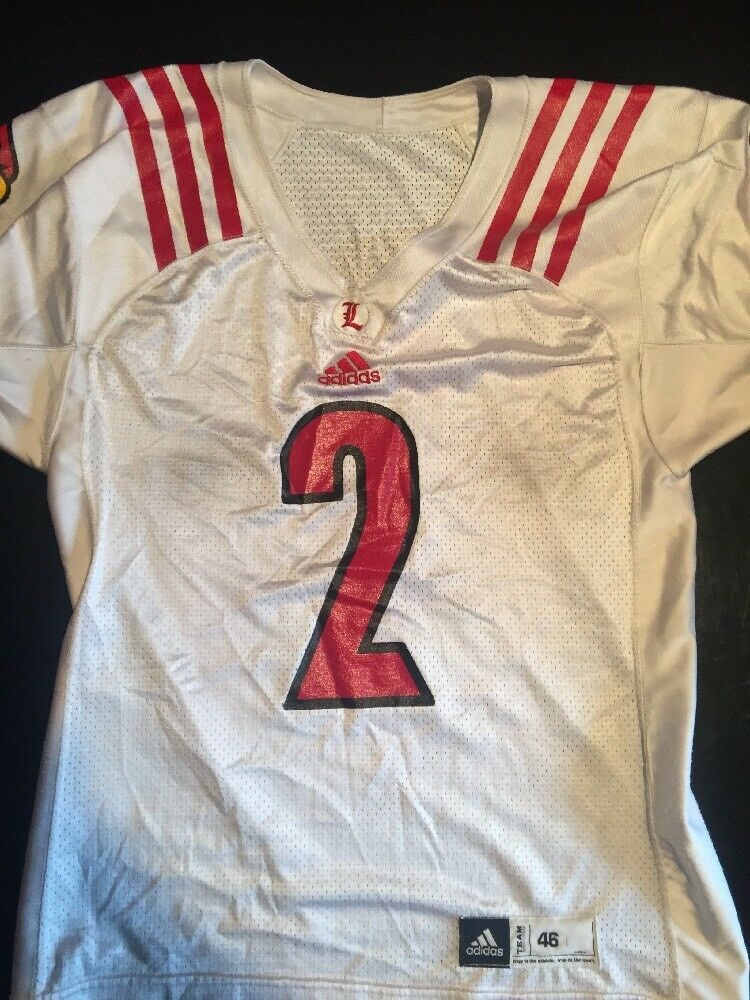outlet store 04e44 2c337 ... Game Worn Used Louisville Cardinals UL UL UL Football Jersey Adidas  Size 46 2acfee ...