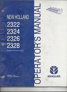 New Holland Swather Header 2322, 2324, 2326, 2328 Operator