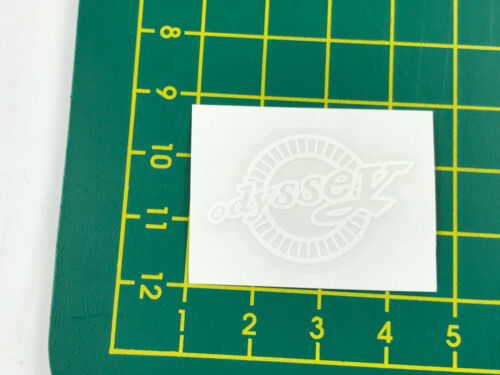 old school bmx decals stickers odyssey stem decal white on clear