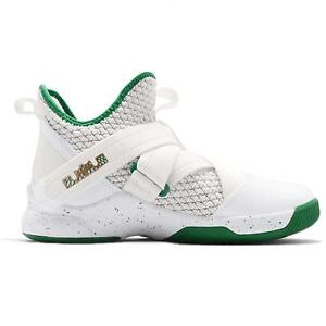 c7663ea6b8d Nike Lebron Soldier XII GS Irish White Green SVSM AA1352-100 Youth ...