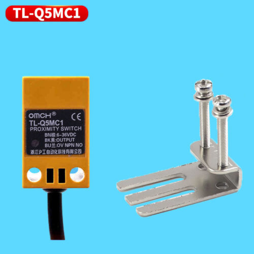 5mm Interruptor de detección del sensor de proximidad inductivo DC6-36V 3 Hilos Npn No + Soporte