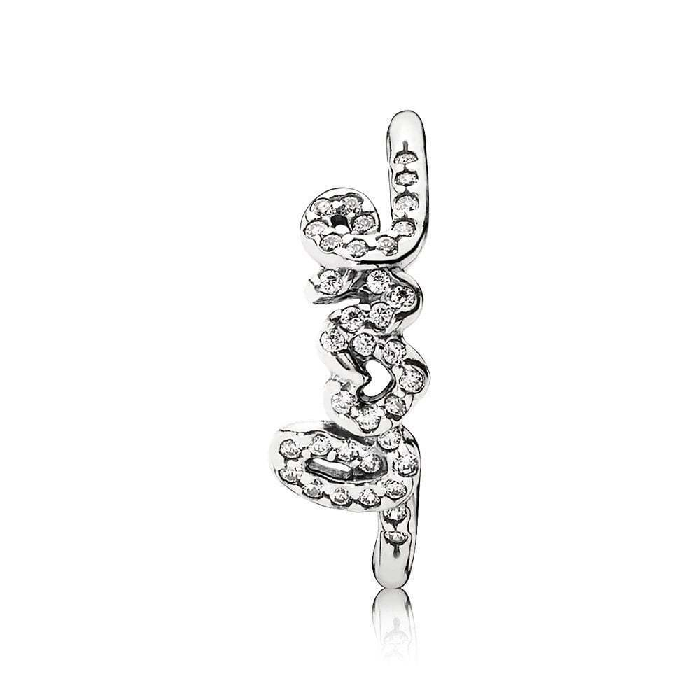 9abe72a7f Authentic PANDORA Ring Signature of Love Ring Size 52(6) 190928cz for sale  online | eBay
