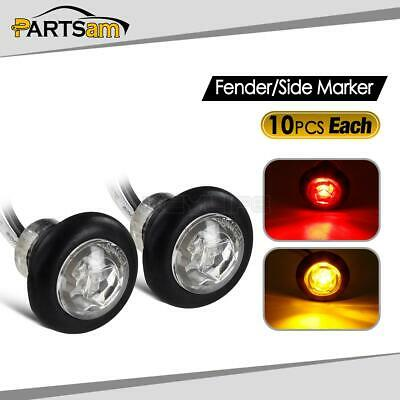 """5 GREEN Diode 3//4/"""" Flush mount Clearance marker Trailer 1 Diode CLEAR Lens"""