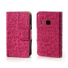Brief Tasche Schutz Hülle Case Cover f Samsung Galaxy Young S6310 S6312 PINK BAB