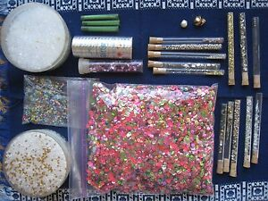 Vintage Beads and Jewelry Making, in corked tubes
