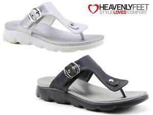 Ladies Summer Comfort Sandals Toe Post