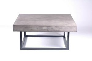 40-034-Square-spectacular-Coffee-table-Solid-concrete-slab-top-iron-modern-base