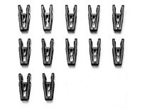 Joy Mangano Huggable Hanger Finger Clips - Pack Of 12 - See Colors Available