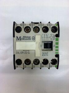 Lot of 2 Klockner Moeller DIL-ER-22-G 22E Contactor 600VAC 10A