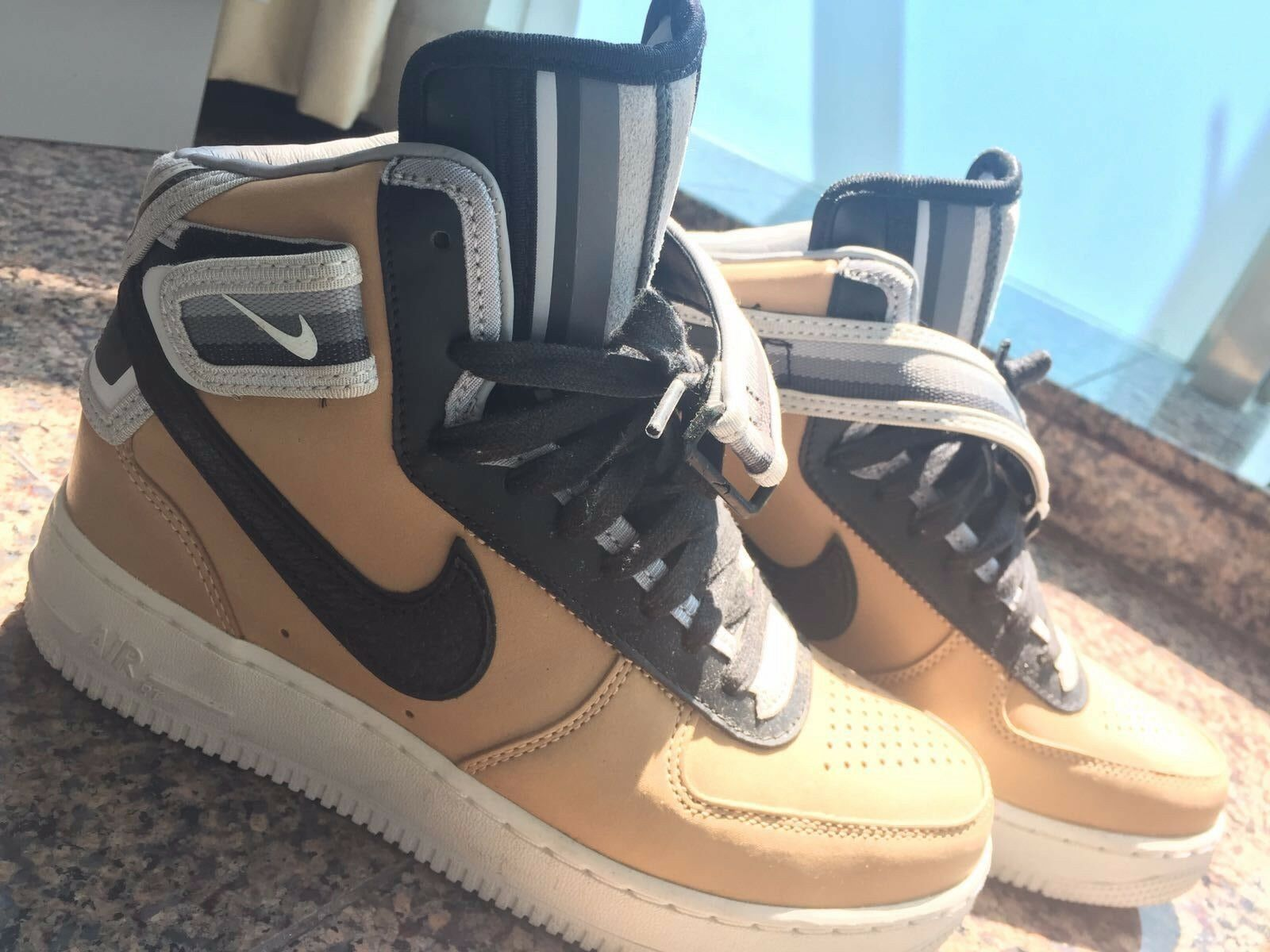 NIKE AIR FORCE TISCI 1 MID VACHETTA TAN RT RICCARDO TISCI FORCE R.T. 677130-200 SIZE 5 92d8d7