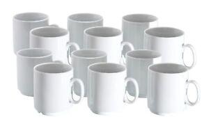 Profi Stapelbar Becher Porzellan Gastronomie Set Details 280ml Zu 12er Kaffeebecher Weiß ZiXukPTwO