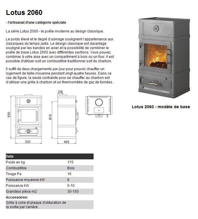Brændeovn, Lotus 2060, m. prøvningsattest