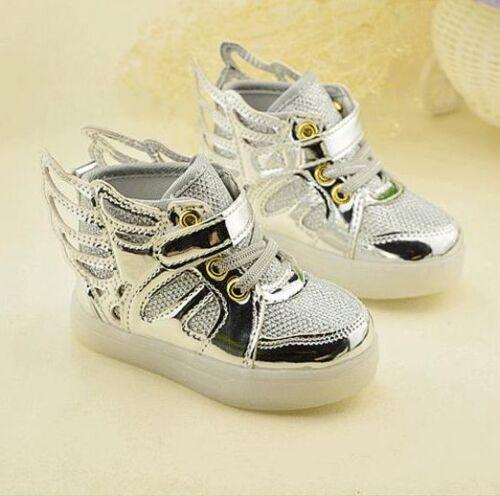 LED Light Children Running Mesh Sneakers Girls Boys Breathable Kids Sport Shoes