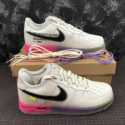 NIKE AIR FORCE 1 X OFF WHITE NEW SCARPE SHOES SNEAKERS CON SCATOLA BIANCO | eBay