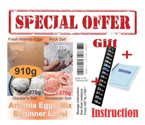 For Beginner Ready to use Fast result GIFT ARTEMIA EGGS BRINE SHRIMP EGGS MIX