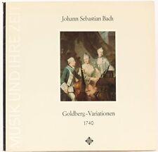 Johann Sebastian Bach: Goldberg - Variationen 1740  Gustav Leonhardt Vinyl Recor