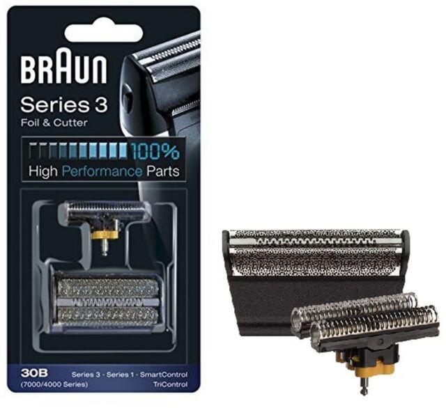 BRAUN 30B SERIES 4000 / 7000 ELECTRIC SHAVER REPLACEMENT FOIL CARTRIDGE - BLACK