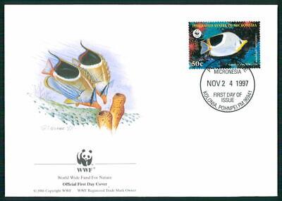 Micronesia Schmuck-fdc 1997 Wwf Fauna Fische Tropical Fish Pesce Peche Em06 Entlastung Von Hitze Und Sonnenstich