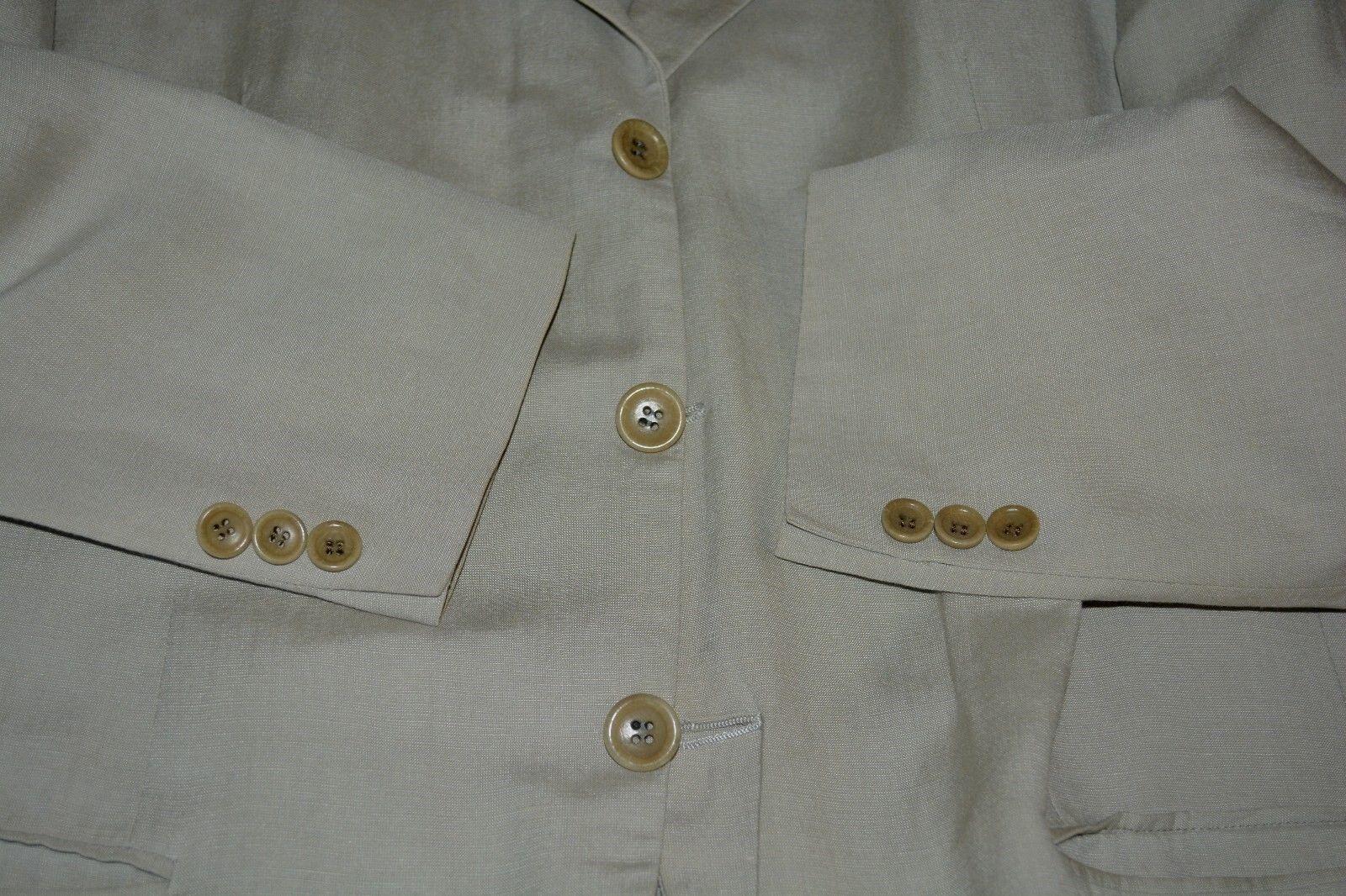 1595 Armani Collezioni Linen Cotton Sportcoat 42R 42 R ITALY