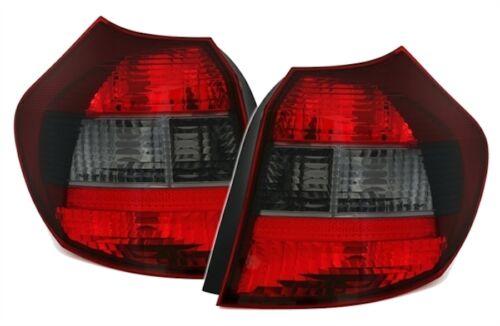 2 FEUX ARRIERE BMW SERIE 1 E81 E87 116i 118i 120i 130 AR NOIR FUME ROUGE CRISTAL