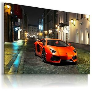LAMBORGHINI AVENTADOR RED Sports Car  Wall Art Canvas Picture AU467 MATAGA