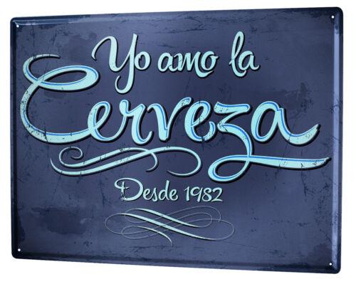 Cartel Letrero de Chapa XXL Cervecería Cerveza Cocina  cerveza de amor