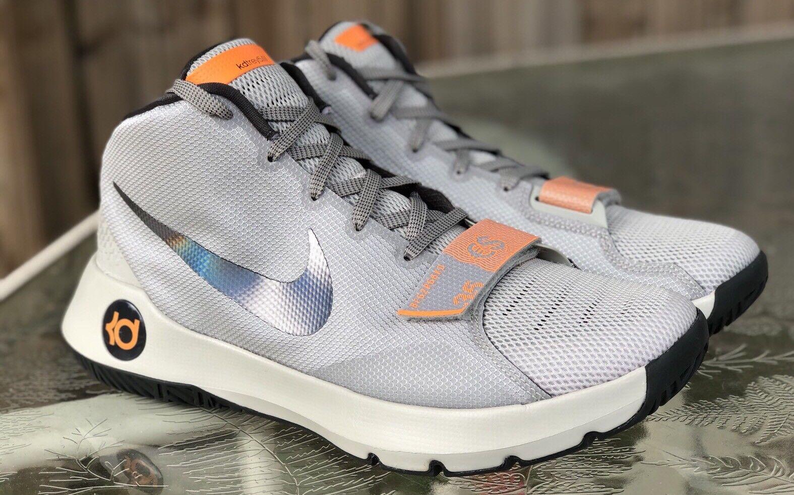 New Nike KD Trey 5 III  Gray Citrus Basketball Shoes Men Size 11.5
