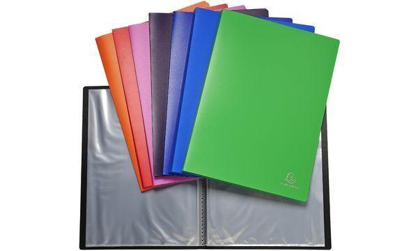 10xEXACOMPTA Sichtbuch, DIN A4, PP, 50 Hüllen, farbig sortiert | Mama kaufte ein bequemes, Baby ist glücklich  | Billig ideal  | Optimaler Preis