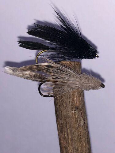 6 x  Muddler Minnow 3 x natural 3 x Black size 8 classic fly