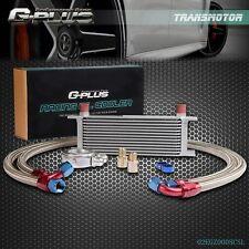 13 Row Universal Aluminum Oil Cooler Kit Oil Filter Relocation Adapter Kit 10AN