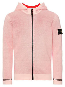 a basso prezzo 79e8f ff41d Stone Island Junior hooded zip Jacket, Light Pink Zipped Hoodie ...