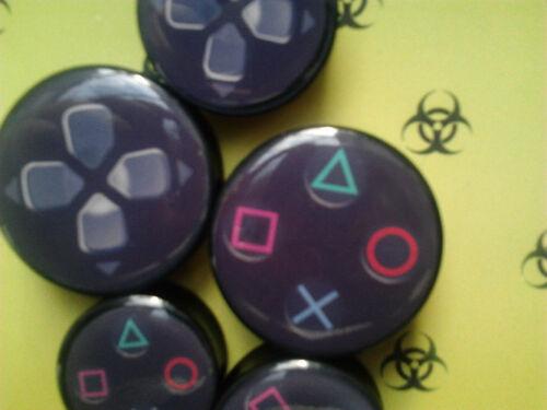 Par De Playstation Controlador Ps4 Botones oreja tapón Nerd Geek túnel 20-40 Mm